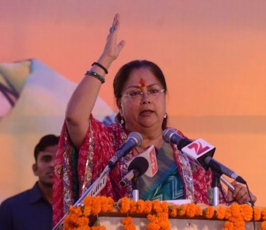 Chief Minister Raje on religious tourism