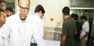 Minister Babulal Verma's car flip