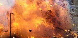 Motorcycle bomb blast
