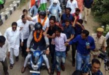 Tricolor travel: Central minister Rajyavardhana Rathod launches bike, Ashok goes back with prolific tri-color
