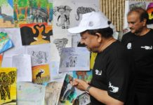 environment-minister-harsh-inaugurated-the-yard-trip-on-world-elephant-day
