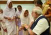 sharabati-devi-the-widow-of-103-year-old-rakhi-bandi-to-prime-minister-narendra-modi