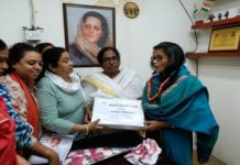 Women Congress files documents of signatures to National President