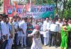 Congress demonstration against the increase in petrol diesel, the effigy of Alfonso