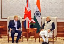 Britain's Foreign Secretary The Right Honorable Boris Johnson meets Modi