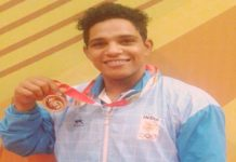 Ajay wins 13 medals the age 19 weight lifting