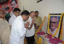 On the birth anniversary of Bhairon Singh Shekhawat, Pushpajaly program by city BJP