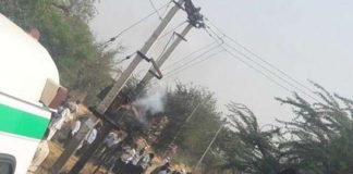 Five people were killed and many seriously injured when a power transformer burst near the house during the wedding ceremony in Shahpura town near Jaipur, Rajasthan.