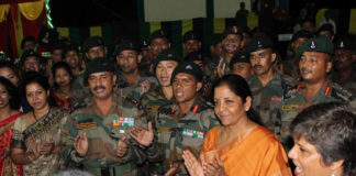 Raksha Mantri-Celebrates Diwali-command