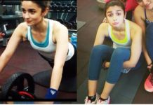 Alia's Fitness Coach Katrina is shedding in the gym, sweating