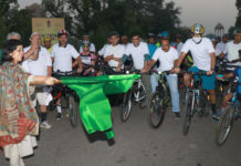 Tourism Secretary showed green rally