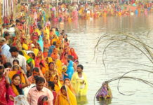 Four-day Chatha Puja started from today, prepared for the devotees by decorating the ghat