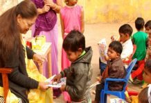 The Chocolate-Comics Book in the Children's Day celebrations celebrated with the mahants