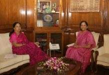 Chief Minister Vasundhara Raje, received from Union Defense Minister Nirmala Sitharaman