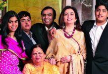 Ambani family richest in Asia
