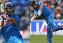 India scored 202 runs thanks to Rohit and Dhawan's innings