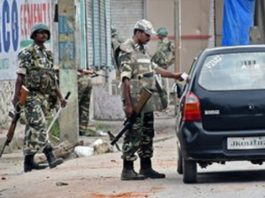 After the killing of militants in the encounter, restrictions were imposed in parts of Srinagar