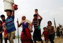 Over 1200 people fled Arakan in Myanmar and took refuge in Mizoram