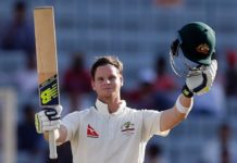 Smith struck half-century from Australia