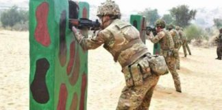 Indo-Pak border is going on in India, UK maneuvers 'invincible warrior 2017'