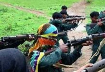 Naxalites set fire to eight vehicles and machines