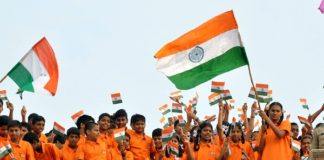 Recorded presence of children in large numbers on Republic Day
