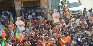 Chief Minister Vasundhara Raje road show