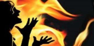 Burnt Dalit girl