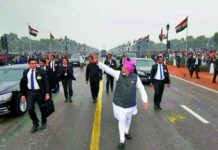 Narendra Modi meets Rajpath at the end of the parade