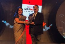 Additional Director, Toursim, Mr. Sanjay Pandey receving Economic Times Brand Equity Award for Best Print Media creatives for Rajasthan Tourism