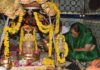 On Wednesday, Chief Minister Vasundhara Raje appeared in Sri Mangleshwar Mahadev Temple in Matru Kundia of Chittorgarh. They worship here