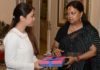 Vasundhara Raje congratulated Apurvi Chandela on winning the medal in the Commonwealth Games