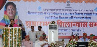foundation stone, Rs 1,843 crore, Dedwana,vasundhara-raje