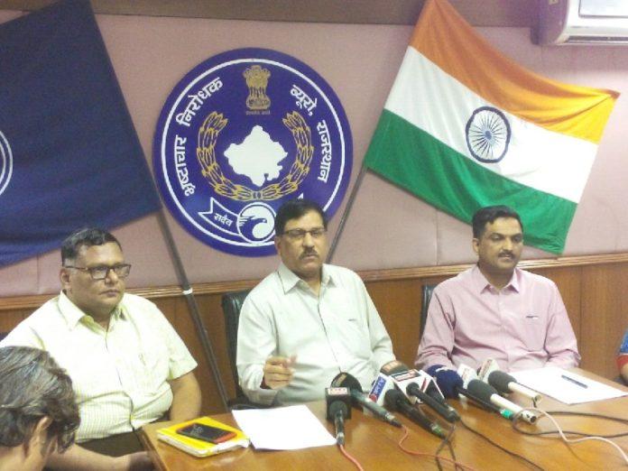 ACB ADG Alok Tripathi, IG VK Singh, Dalal Chiranjeevi Kumar Joshi, Kamaljit Singh Ranawat, Mobile Surveillance, ACB,