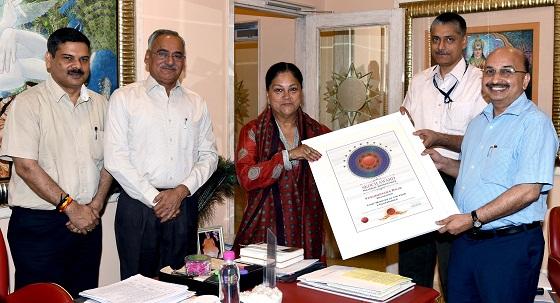 Chief Minister raje, Year award, e-governance, cs db gupta