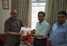 BJP incharge, avinash Khanna, meet, former CS Ashok Jain