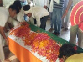 Funeral, state, honors, slain, Jabanj, martyrs, country, bsf