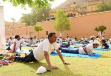 Yoga, learned,Aamer Mahal, jaipur, rajasthan tourism