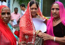 Jalore, women tied, chief Minister raje, Rakhi