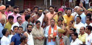 Exorcists, former Prime Minister, Atal Bihari Vajpayee, immerse, themselves, Pushkar Sarovar, cm raje