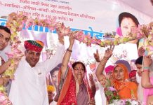 rajasthan gaurav yatra, jodhpur, Congress, 3-3 ministers, saw, country, taking, money, TV, cm raje