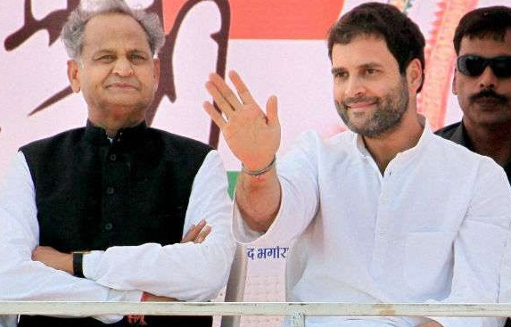 rahul gandhai, road show, Ashok Gehlot, statement, cm Vasundhara Raje, Gaurav Yatra, extracters, ask,history, people
