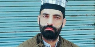 bjp leader, kasmir, shabir ahmad bhat, murder, terriost, shot, home