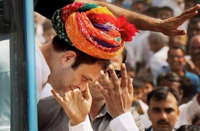 Rahul Gandhi, road show, Jaipur, grand welcome, congress meeting