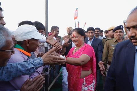 rajasthan elecation, cm Vasundhara Raje