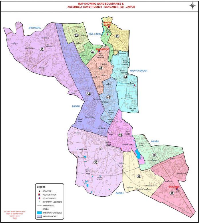 sanganer map