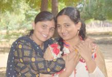 Right Kriti Bharti, Left Urma