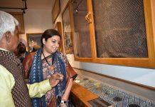 Titanwala Museum, Smriti Irani, Handblock printing